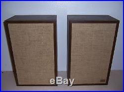 1970s VTG ACOUSTIC RESEARCH AR-7 STEREO SPEAKERS NEW SURROUNDS WILL SHIP