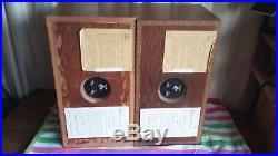 (2) Acoustic Research AR-4 Speakers AR4 SERIALs numbers 01626 02163 PAIR