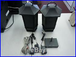 2 Pair Acoustic Research WS2PK63 Wireless Speakers Transmitter Outdoor