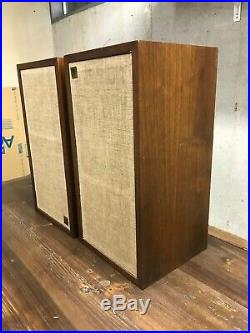 2 x Acoustic Research AR-4x Walnut Speakers ALL Working. Great Condition