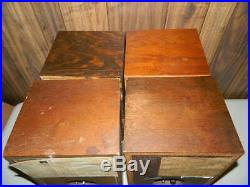 4 Mixed Vintage Ar Acoustic Research Speaker Lot 4x 4 4xa For Restore And Fix