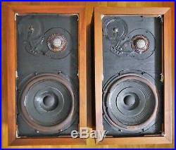 ACOUSTIC RESEARCH AR 3a SPEAKERS NICE SET! WITH LOW SERIAL #s & ALINCO WOOFERS
