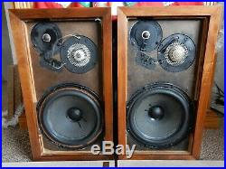 AR3a Acoustic Research Speakers with Original Boxes & also Includes Stands