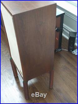 AR3a speakers, pair & wood stands (original owner), plus a backup rebuilt woofer