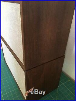 AR4x AR Acoustic Research Oiled Walnut Speakers Clean All Original WithBoxes