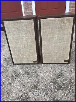 AR7 Speakers Acoustic Research Vintage Bookshelf Sounds Great- READ DETAILS