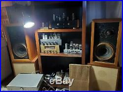 AR-3 Speakers ULTRA RARE UNFINISHED VERY FIRST VERSION BRONZE ONE PAIR