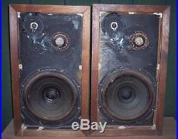 AR 3a Speaker pair for parts or restore Vintage Acoustic Research