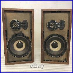 AR-4xa Acoustic Research Pair Speakers Vintage ALL ORIGINAL Early Serial #s