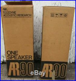 AR-90 Teledyne Acoustic Research Speaker Set