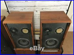 AR ACOUSTIC RESEARCH AR-2ax VINTAGE SPEAKERS RESTORED ALL ORIGINAL DRIVERS/POTS