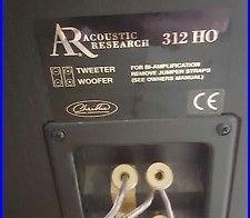 AR Acoustic Research 312 HO Tower Speakers with CS 25 Center Speaker