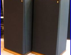 AR TSW-510 Floor-Standing Speakers, 3-Way, Solid Walnut Top & Base, Superb Cond