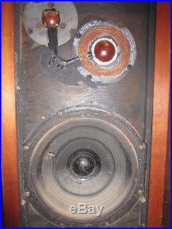 Acoustic Research AR3 Vintage Speakers Pair (2) for Parts or Repair PICK UP ONLY