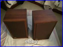 Acoustic Research AR3a Speaker-Oiled Walnut Pristine Set of 2 Vintage Speakers