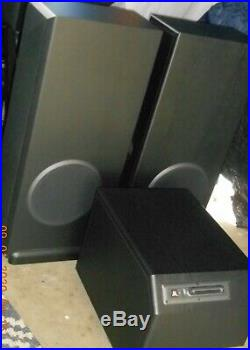 Acoustic Research AR9 Speakers & S300 Boosterblack walnut color