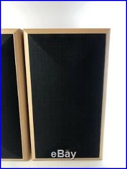 Acoustic Research AR 208 HO Speaker Pair Blonde Cabinet