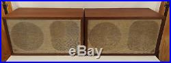 Acoustic Research AR-2Ax Set of 2 Vintage Speakers Early Cloth Surrounds 1 Owner