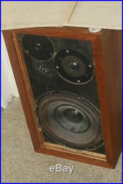 Acoustic Research AR-3 only One Vintage Speaker Untested Sold AS-IS for parts