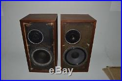 Acoustic Research AR-4X Speakers Pair Vintage Use or Restore Tested & Working