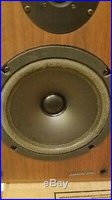 Acoustic Research Connoisseur 20 Speakers Vintage withOrig Box NEED FOAM SURROUNDS