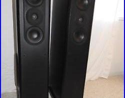 Acoustic Research Floorstanding Speakers Model 312HO Black + 8′ Monster Cable