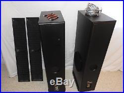 Acoustic Research Floorstanding Speakers Model 312HO Black + 8' Monster Cable