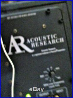 Acoustic Research Hi-Res AR5 Speakers & AR-CS-25 Center Channel & Yamaha Recieve