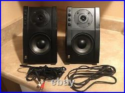 Acoustic Research Powered Partners 570 Used Stereo Speakers AR Black Pair