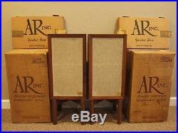 All Original Acoustic Research AR-3a Speaker Pair+Stands withBoxes Oiled Walnut
