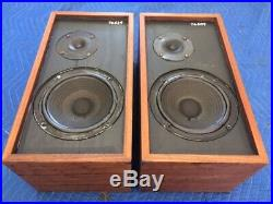 Ar4x Acoustic Research Speakers Early Plywood Set Very Nice Collectible