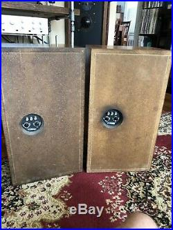 Gorgeous Original Acoustic Research AR3a Speakers, Functional Restoration! %