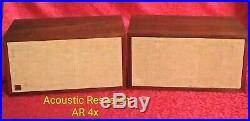 Nice Vintage Pair of Acoustic Research AR 4x, Large Bookshelf Speakers, Tested