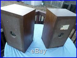 Nice Vtg Acoustic Research AR 8 Bookshelf Speakers Kloss Pickup Danvers Ma
