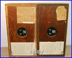 PAIR OF Vintage Acoustic Research AR-4x Speakers