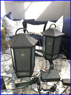 Pair Two Acoustic Research AR WS2PK63 Wireless Speakers Transmitter Outdoor