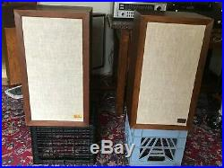 Pair of AR-3a Speakers in Oiled Walnut Veneer Cabinets Really Nice Condition a