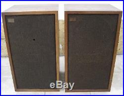 Pair of Acoustic Research AR-5 Vintage Speakers Working, foam surrounds gone