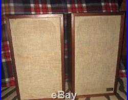 Pair of Vintage Acoustic Research 2ax Speakers Restored Walnut