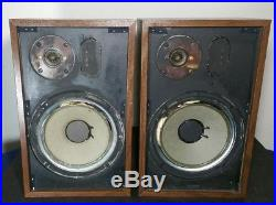Pair of Vintage Acoustic Research AR-7 Bookshelf Speakers Needs refoam