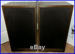 Rare Vintage Acoustic Research AR38s Audiophile Stereo HiFi Main Speakers