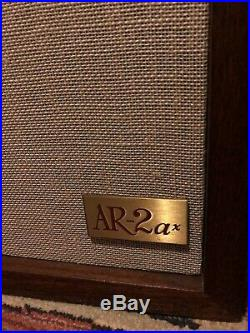 Restored! Acoustic Research AR2ax Speakers, Rebuilt Tweeters, New Caps, %