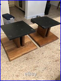Set (2) Vintage Acoustic Research AR Speaker Base AR-2 AR-3 AR-4 Walnut Stand