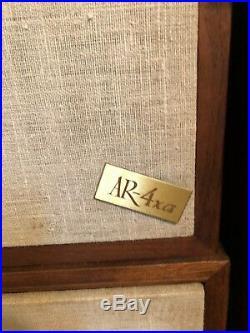 Set Of 2 Vintage AR-4xa Loudspeakers (Great Shape) Acoustic Research