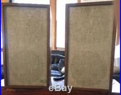 Unrestored Acoustic Research AR-5 AR5 Vintage 3-way Speakers. 8ohm 3/4 tweeter