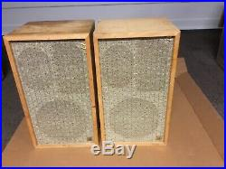 VINTAGE ACOUSTIC RESEARCH AR-2A SPEAKERS! All DRIVERS WORK. L@@K