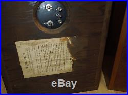 VINTAGE ACOUSTIC RESEARCH AR 2A Stereo Tube Amp SPEAKERS 3 way Bookshelf