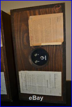 Vintage 1964 Acoustic Research AR 4 Speakers