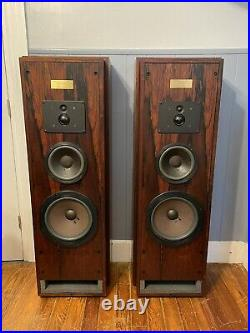 Vintage Acoustic Research AR9ls AR 9lsi speakers in rosewood, 50th anniversary