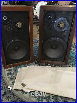 Vintage Pair of Acoustic Research AR-3a Speakers for Restoration AS IS UNTESTED